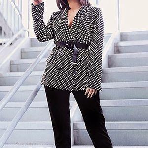 Jackets & Blazers - Oversized Polka Dot Blazer